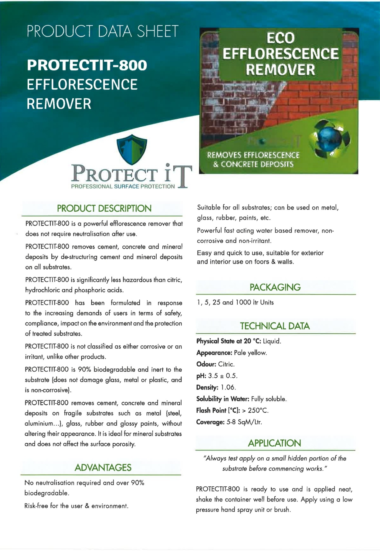Clean It-Efflorence Remover data sheet 1