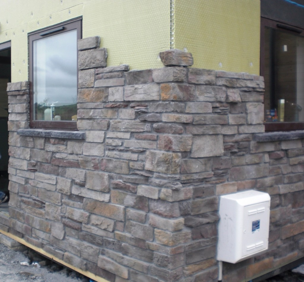 Projects during construction fernhill stone for Stone clad