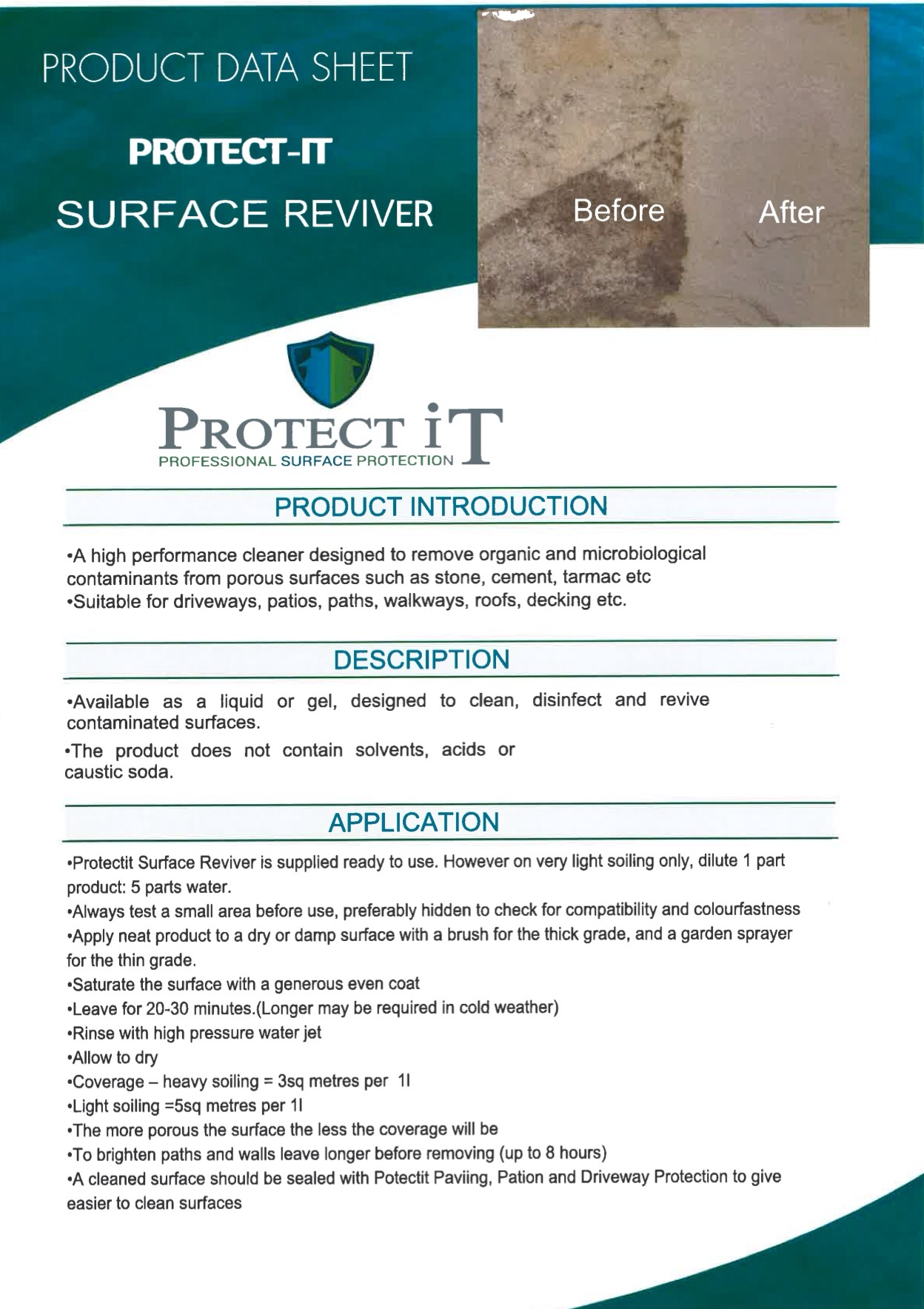 Clean It- Surface Reviver Data sheet 1
