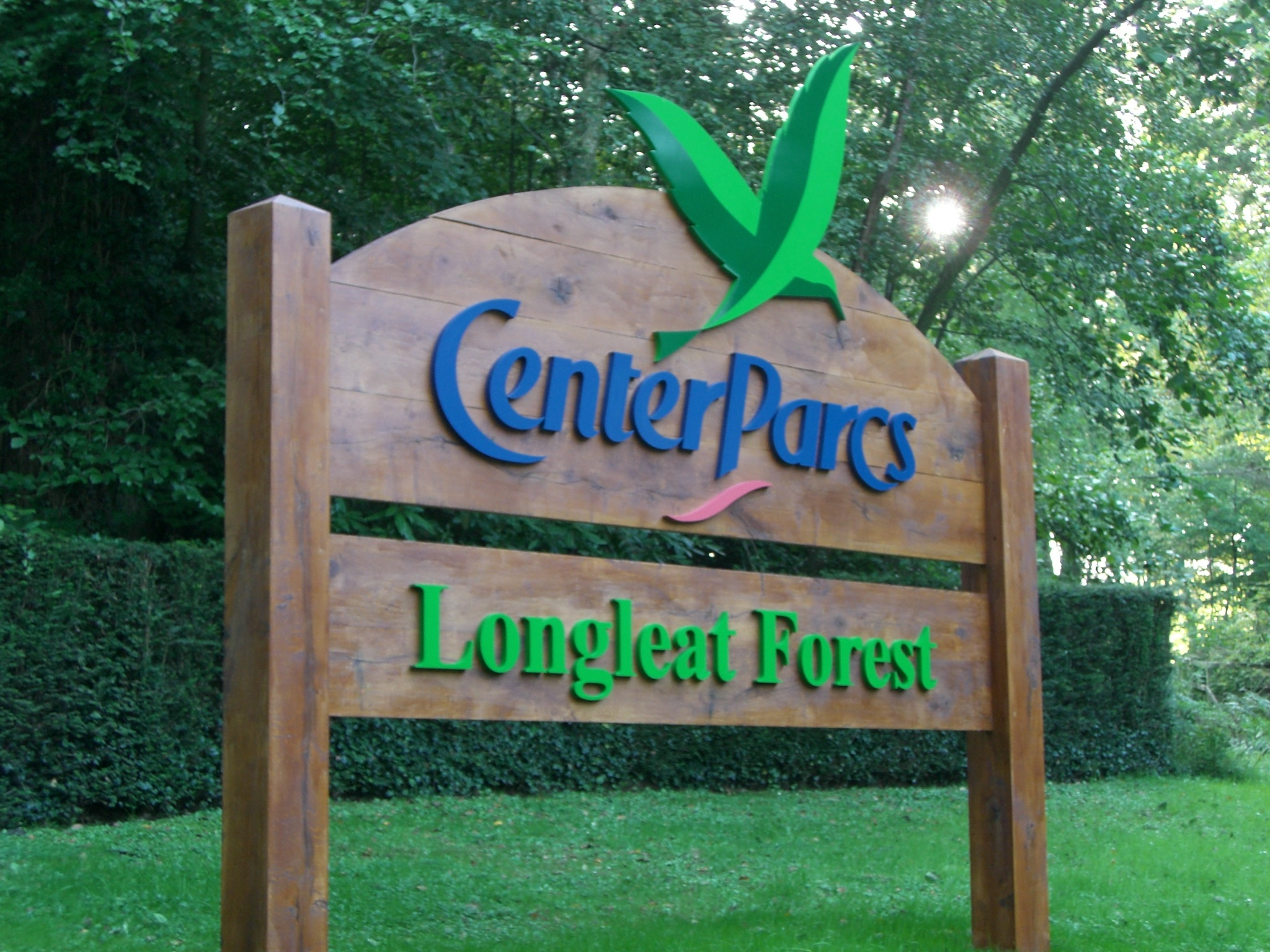 Centre Parcs sign